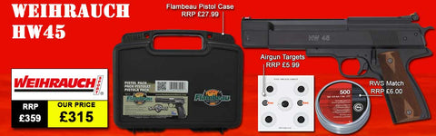 Weihrauch HW45 Air Pistol Package Deal