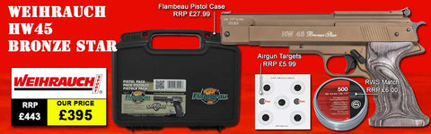 Weihrauch HW45 Bronze Star Air Pistol Package Deal