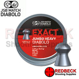 JSB EXACT JUMBO HEAVY DIABOLO AIRGUN PELLETS IN .22