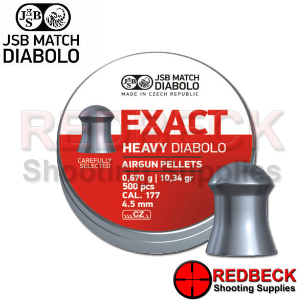 JSB EXACT HEAVY DIABOLO AIRGUN PELLETS IN .177