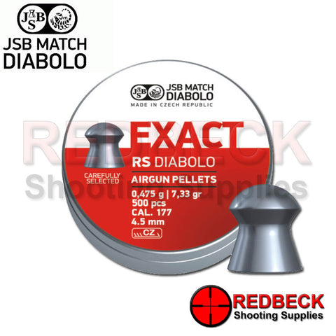 JSB EXACT RS DIABOLO LIGHT WEIGHT AIRGUN PELLETS .177