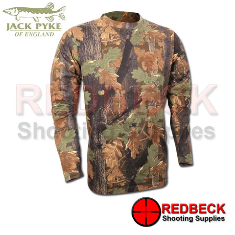 Long Sleeve Camo T Shirt by Jack Pyke English Oak