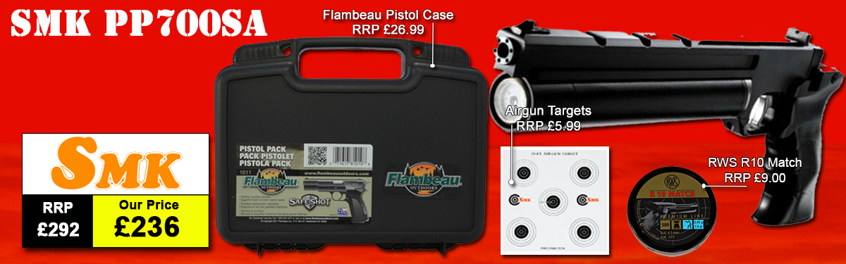 Sportsmarketing PP700SA Air Pistol Package Deal