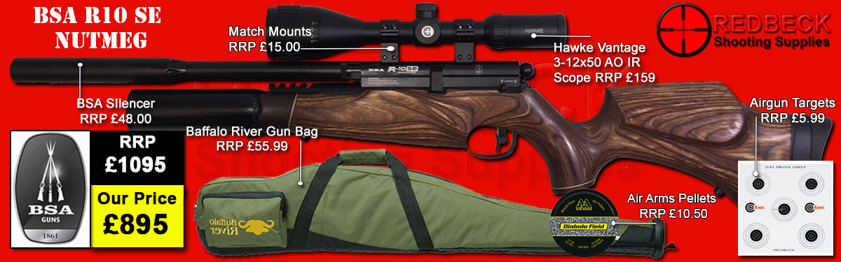 BSA R10 SE Nutmeg Package Deal air rifle