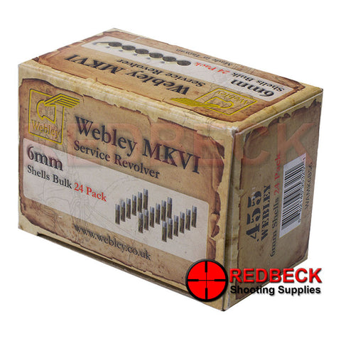 Webley MKVI Replacement Shells 24 Pack Bulk Pack of 24