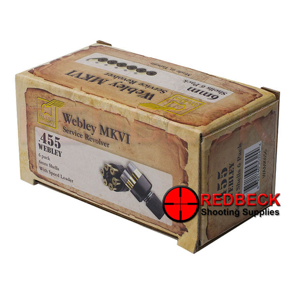 Webley MKVI Replacement Shells 6 Pack with Speed Loader