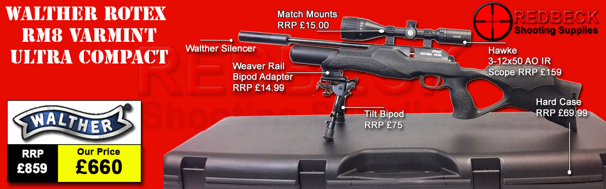 Walther Varmint RM8 Ultra Carbine Hardcase Package deal