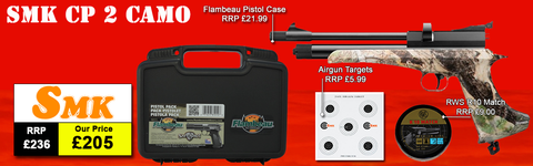 SMK Victory CP2 Camo Air Pistol Package Deal