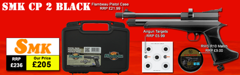SMK Victory CP2 Air Pistol Package Deal