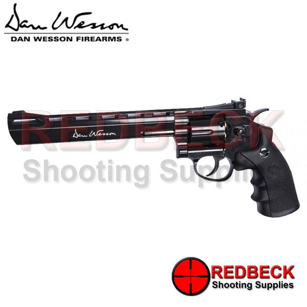 "Dan Wesson 8"" Black Airgun Pistol - Pellet Firing"