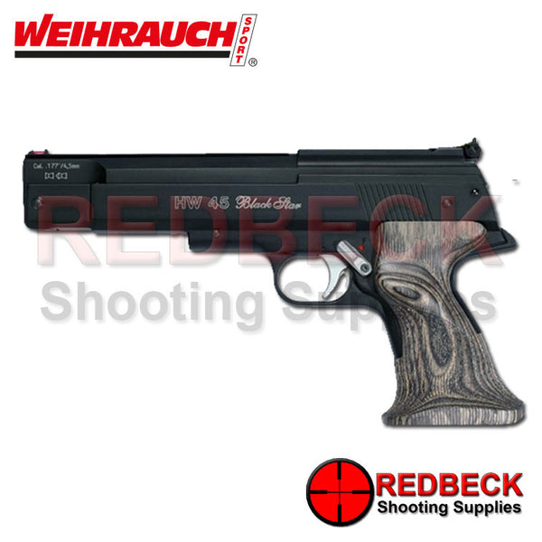 Weihrauch HW45 Black Star Air Pistol