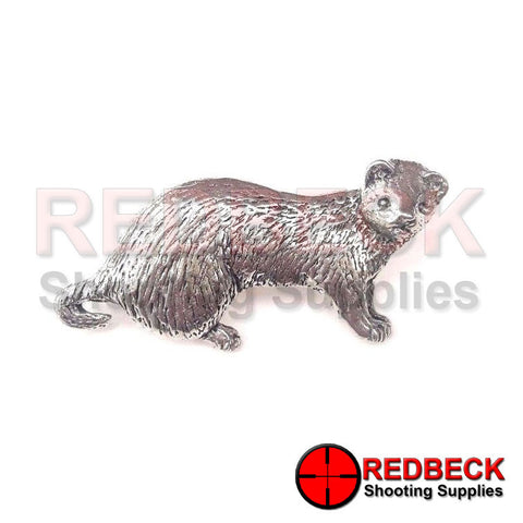 Pewter Ferret Pin Badge