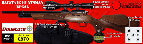 Daystate Huntsman Regal Package Deal