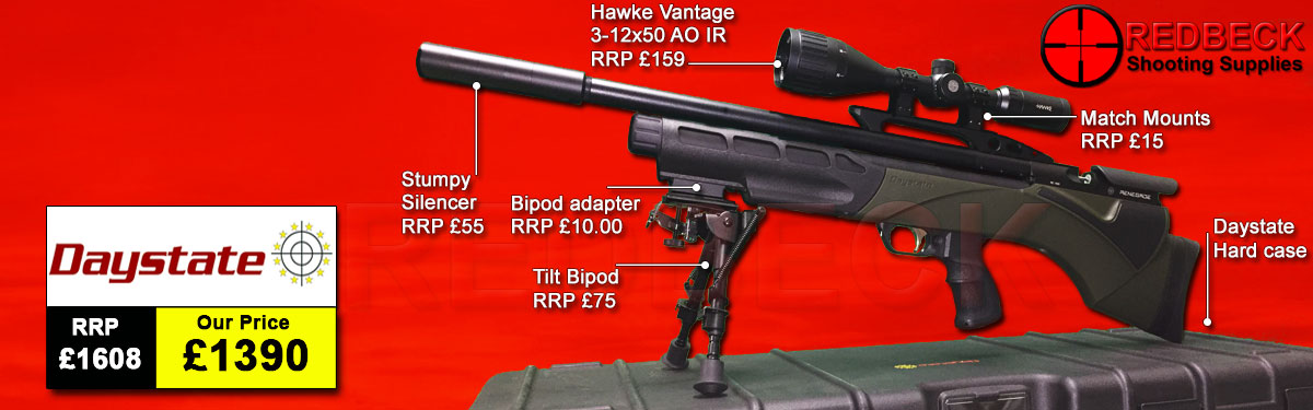 Daystate Renegade Green Package Deal air rifle