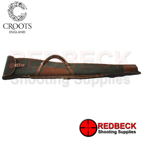 Croots Shotgun Slip with Flap, Zip and Carry Handles green