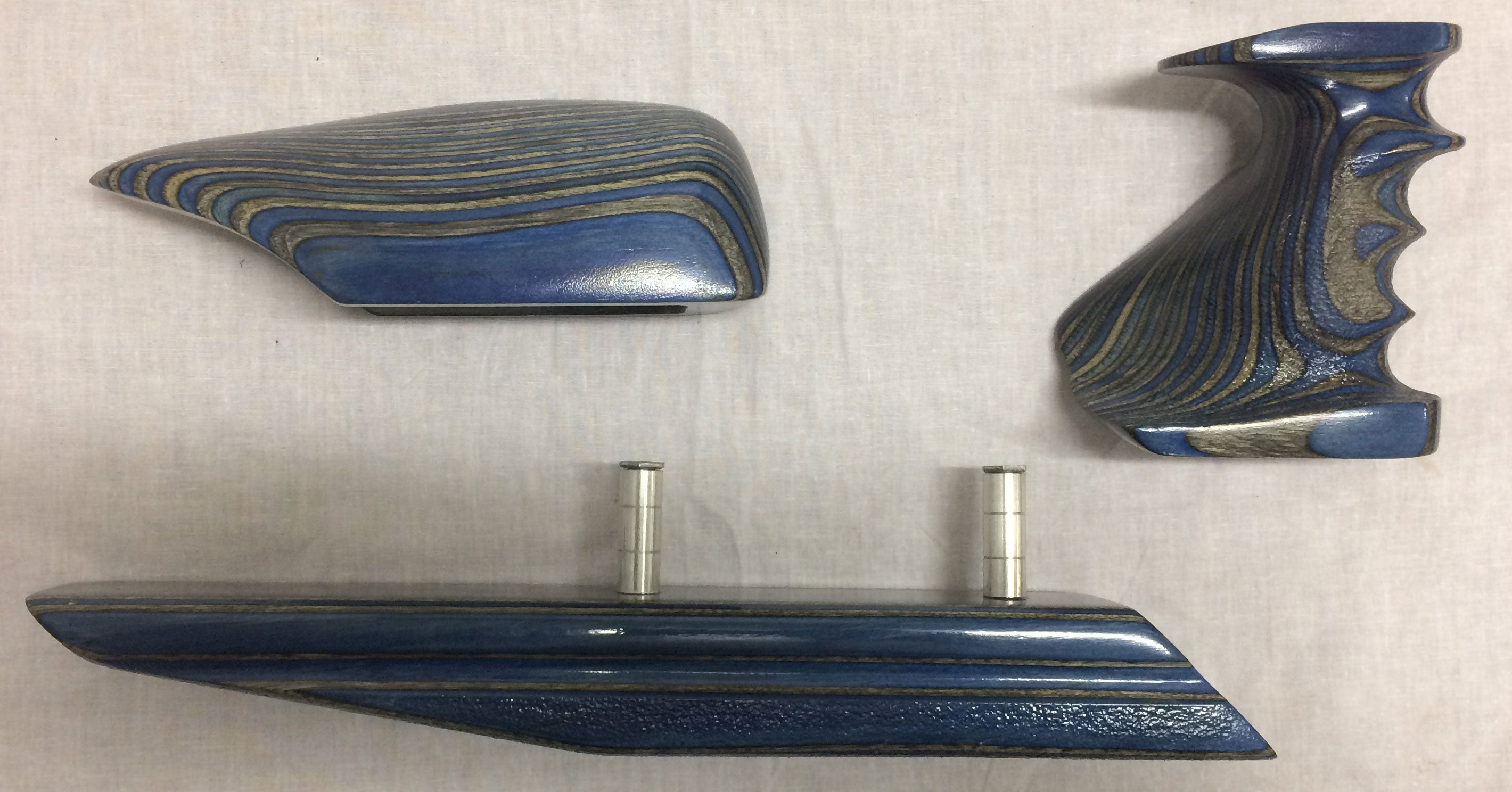 Second Hand Custom Steyr Blue Laminate Pieces