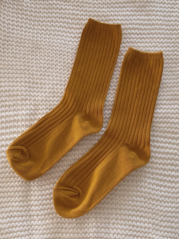 Mustard Adult Cotton Socks