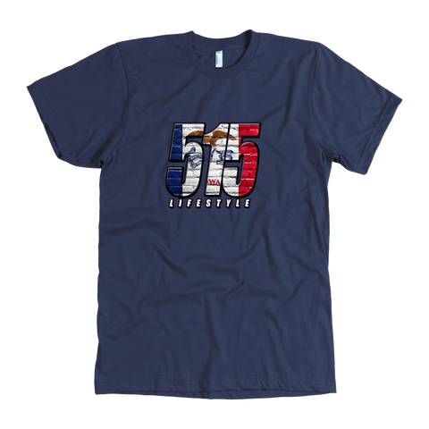 515 Lifestyle - Red White & Blue - Iowa Flag