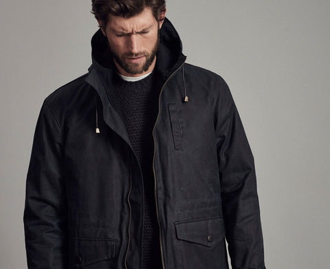 mens parka with quilted lining