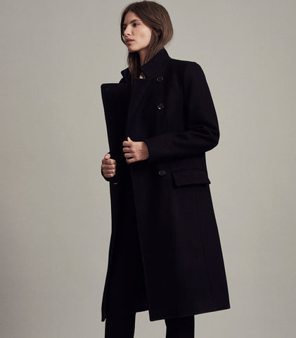 womens bridge coat navy