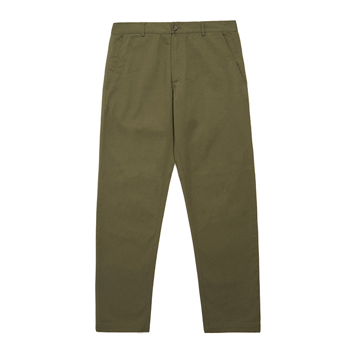 Universal Works Aston Pant In Light Olive Twill