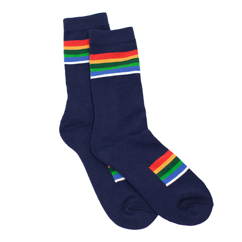 Pendleton Navy National Park Crater Lake Stripe Socks