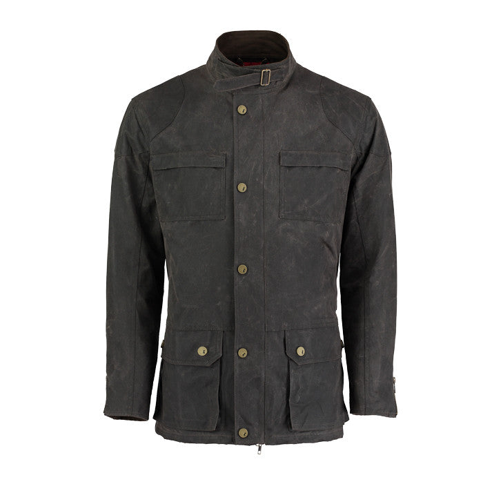 Biker field jacket in Brown