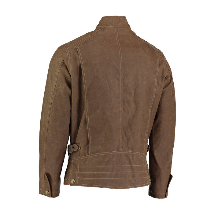 Archie Foal EDGAR Wax Cotton Bomber Jacket in Tan