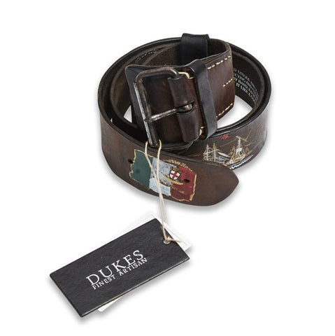 Blue de Genes Handpainted Gari Brown Belt