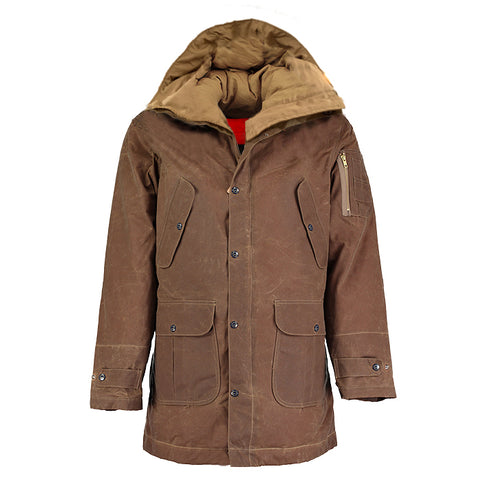 Archie Foal Women's Gia Wax Cotton Coat in Brown