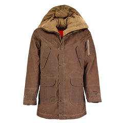 ARCHIE FOAL Men's IVAR PARKA IN TAN WAX COTTON