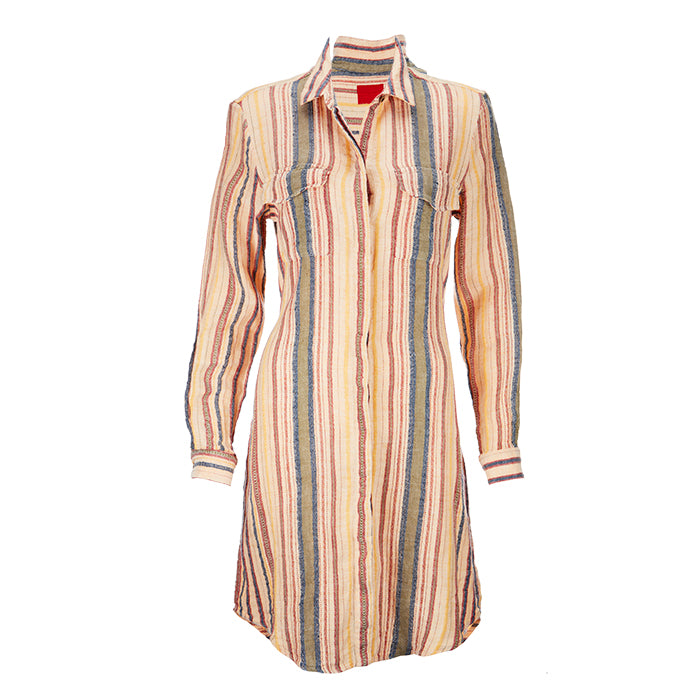 Archie Foal Women's Erica Shirt Dress in Multi-Stripe