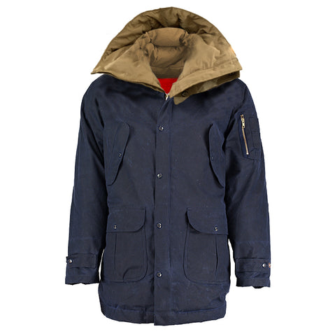 Archie Foal Men's Ivar Parka in Navy Wax Cotton