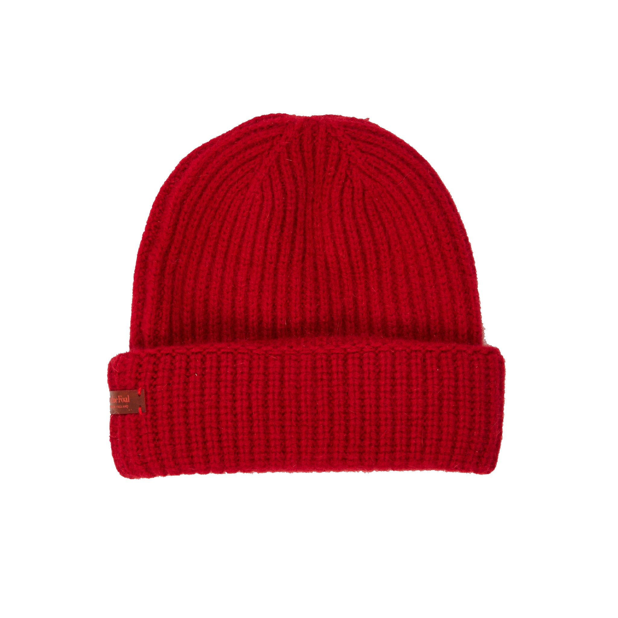 c7ed198f2b4 Archie Foal Unisex Kade Ribbed Beanie Hat in Red