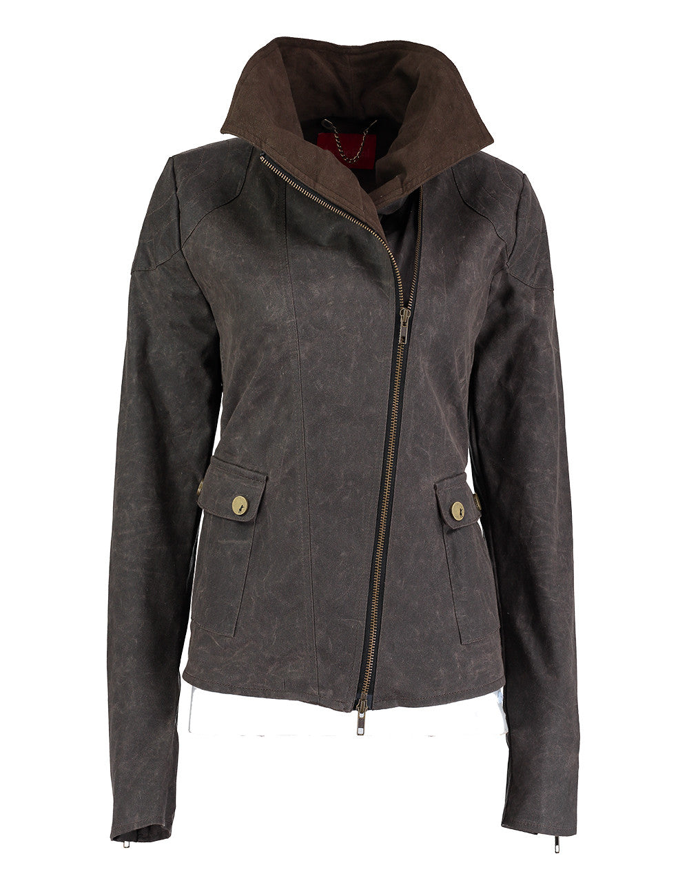 Archie Foal Women's Nea Wax Cotton Jacket in Brown