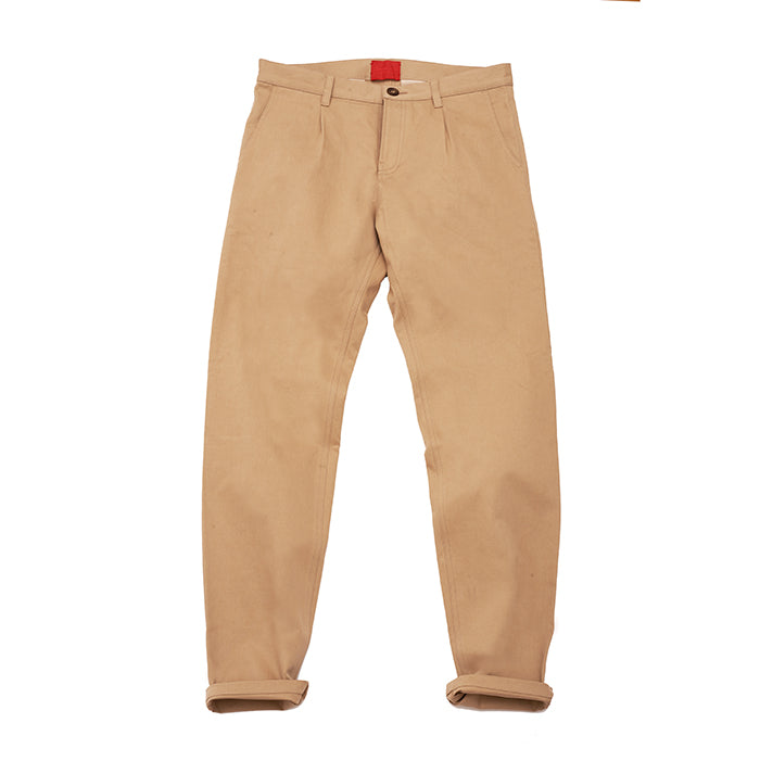 Archie Foal Men's Noah Cotton Chinos in Stone