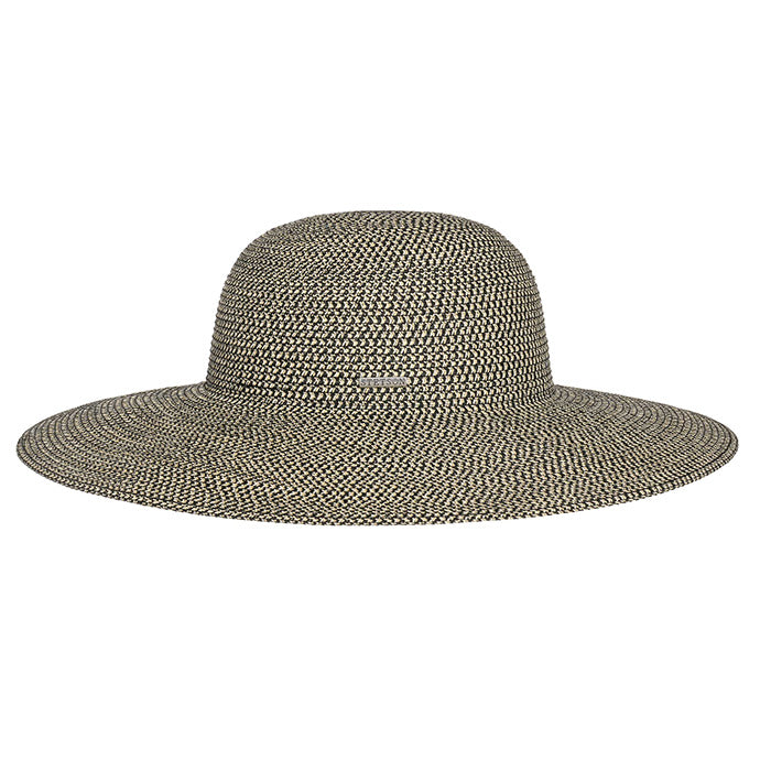 Stetson Women's Floppy Straw Beach Hat in Black & White