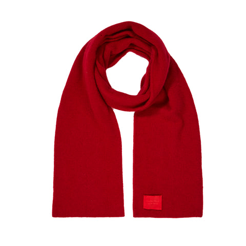 Archie Foal Unisex Albin Supersoft Merino/Angora Scarf in Red