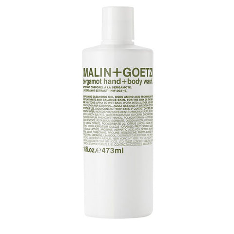 Malin+Goetz unisex bergamot hand+body wash 473ml
