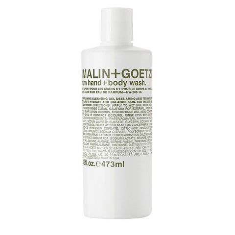 Malin+Goetz unisex rum hand+body wash 473ml