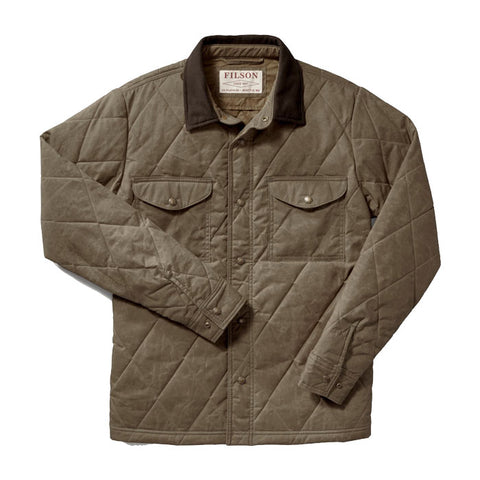 Filson Down Cruiser Vest in Dark Tan