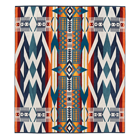 Pendleton Painted Hills Blanket in Taupe