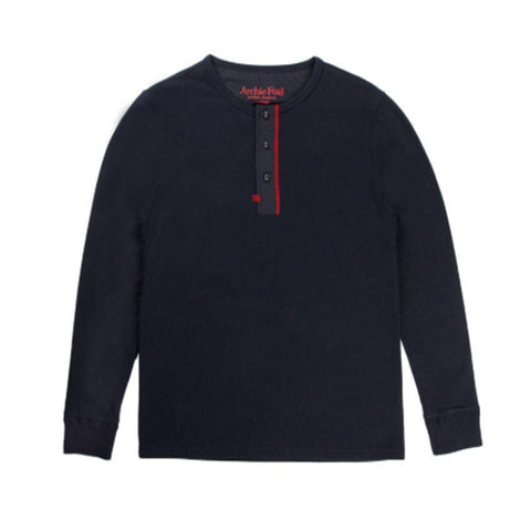 Archie Foal Men's BRODY Raglan Sweater in Navy