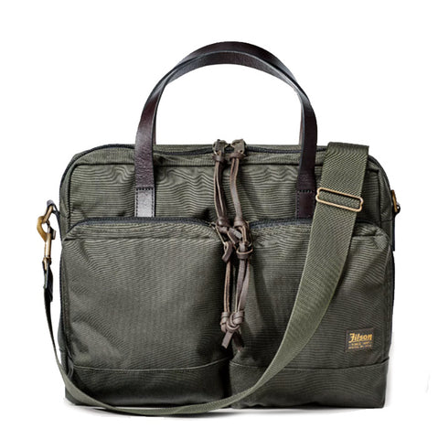 Filson 24-HOUR TIN CLOTH BRIEFCASE in Otter Green