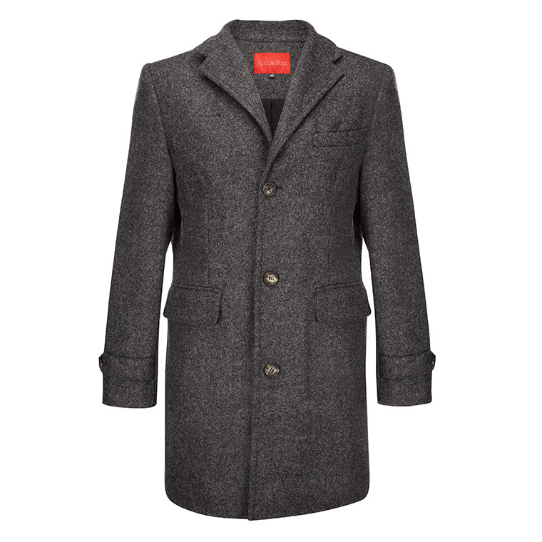 Archie Foal Halstein Grey Wool Casual Coat