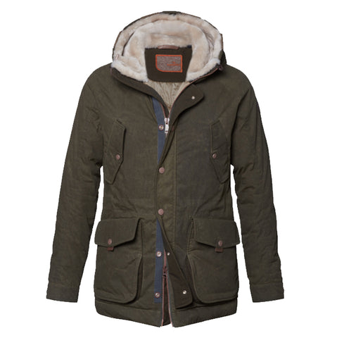 Archie Foal Men's ANSGAR Wax Cotton Biker Field Jacket in Tan