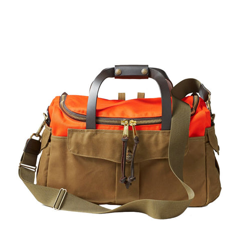 Filson HERITAGE SPORTSMAN BAG in Dark Tan and Orange