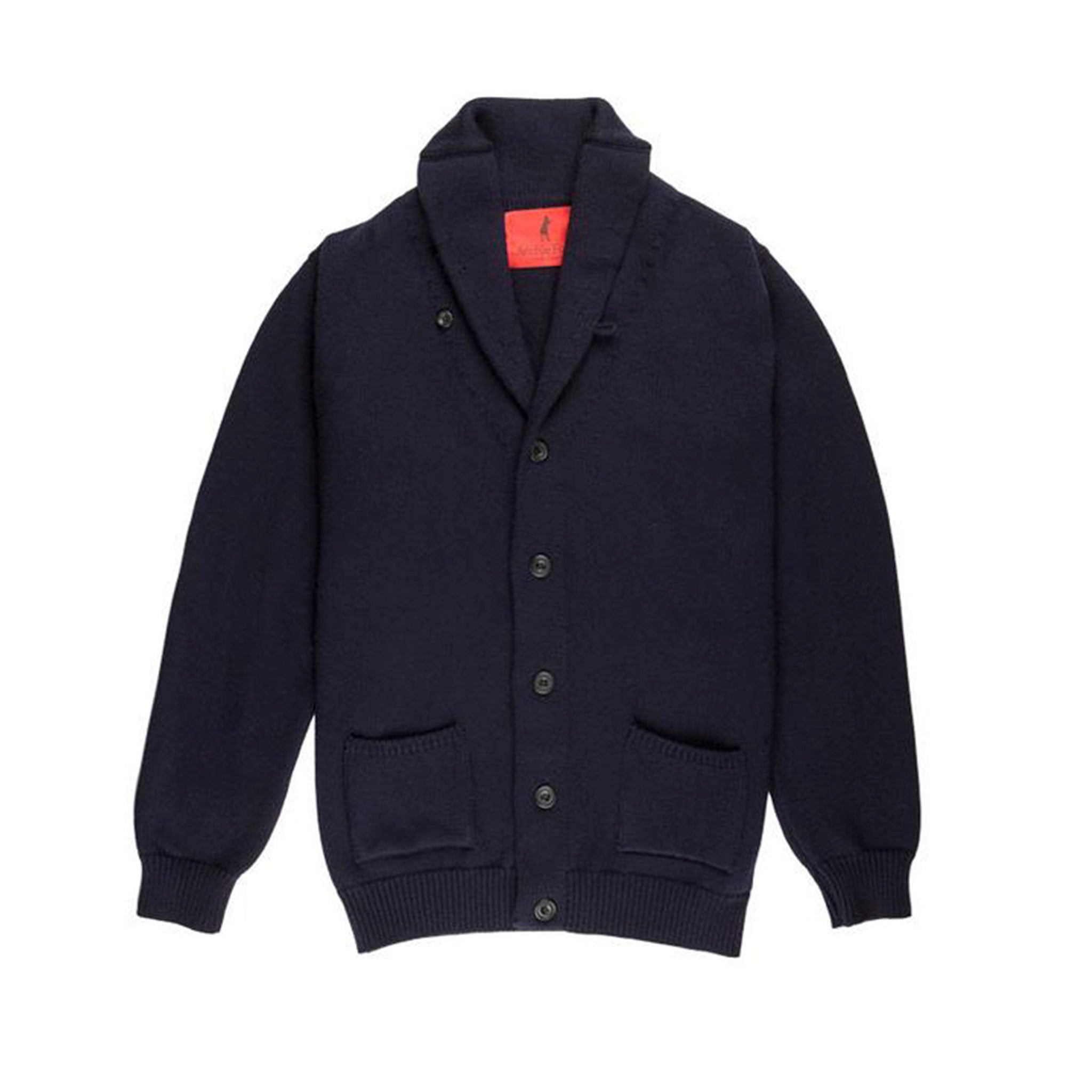 Archie Foal Men's KENNAN Shawl Collar Cardigan in Navy
