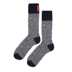 Archie Foal Unisex Fireside Thor Two-Tone Marl Sock in Navy