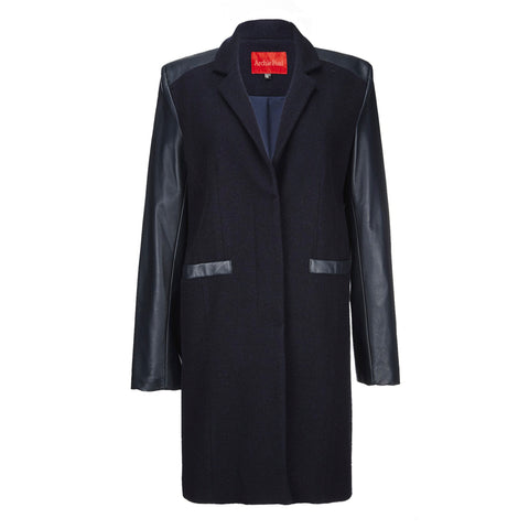 Archie Foal Women's Gia Wax Cotton Coat in Black